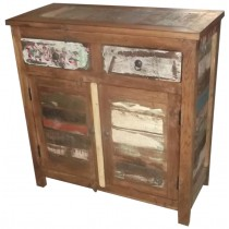 Cupboard with recycled wood from India