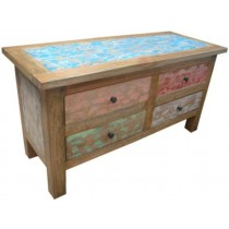 Chest of 4 drawers of reclaimed wood