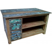 TV cabinet with reclaimed wood