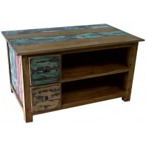 TV cabinet with recycled wood