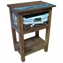 Bedside table from reclaimed wood