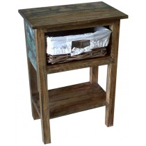 Bedside table from recycled wood
