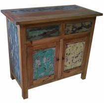 Small buffet with recycled wood