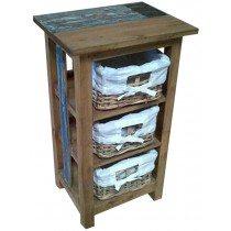 Indonesian bedside table from reclaimed wood