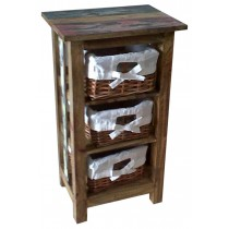 Recycled wooden nightstand from Indonesia
