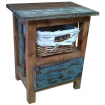 Reclaimed wooden nightstand from Indonesia