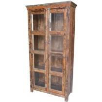 Recovered wooden glass showcase