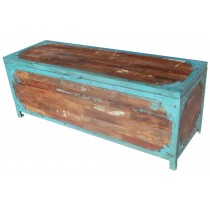 Recovered wood and iron chest