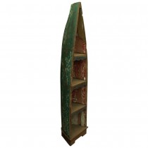 Old boat style bookcase with recycled teak wood
