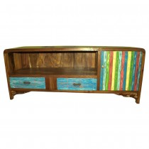 TV cabinet in recycled teakwood