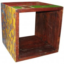 colored cube of wood recycling module
