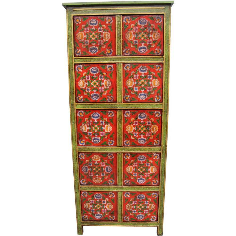 Arredare con mobili tibetani etnicart - Mobili tibetani antichi ...