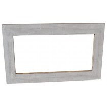 Specchio bianco decapato stile shabby chic