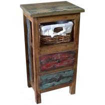 Cassettiera con legno di recupero