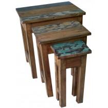 Portapiante con legno di recupero (medio)