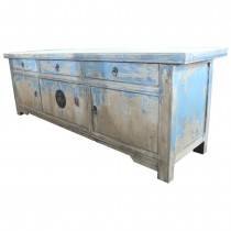 Mobile basso shabby chic decapato